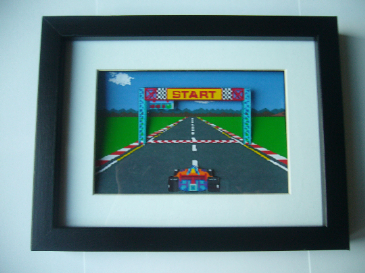 Pole Position Art  3D Diorama Shadow Box